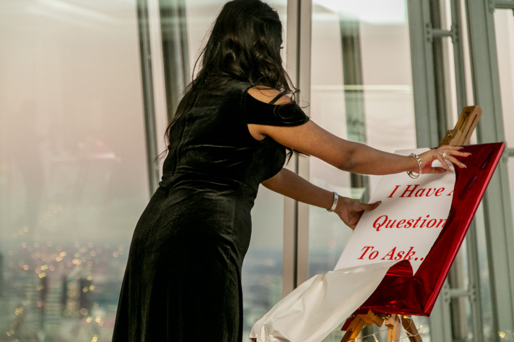 Marriage Proposal at The Shard