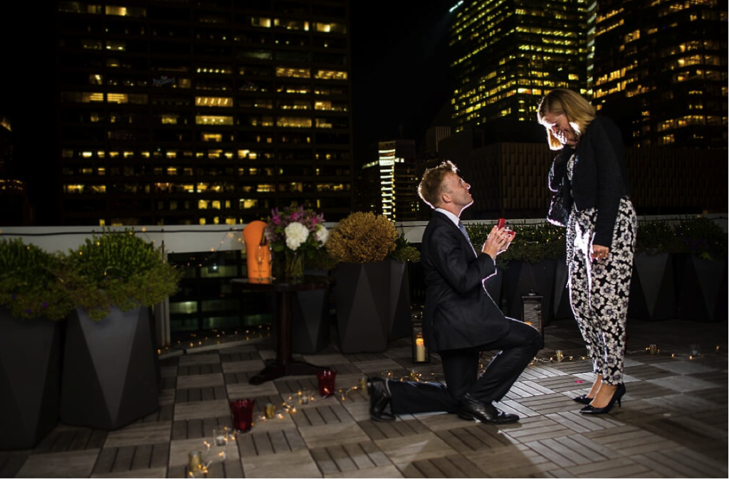 Marriage Proposal in Sofitel Hotel New York planned by proposal experts The Proposers