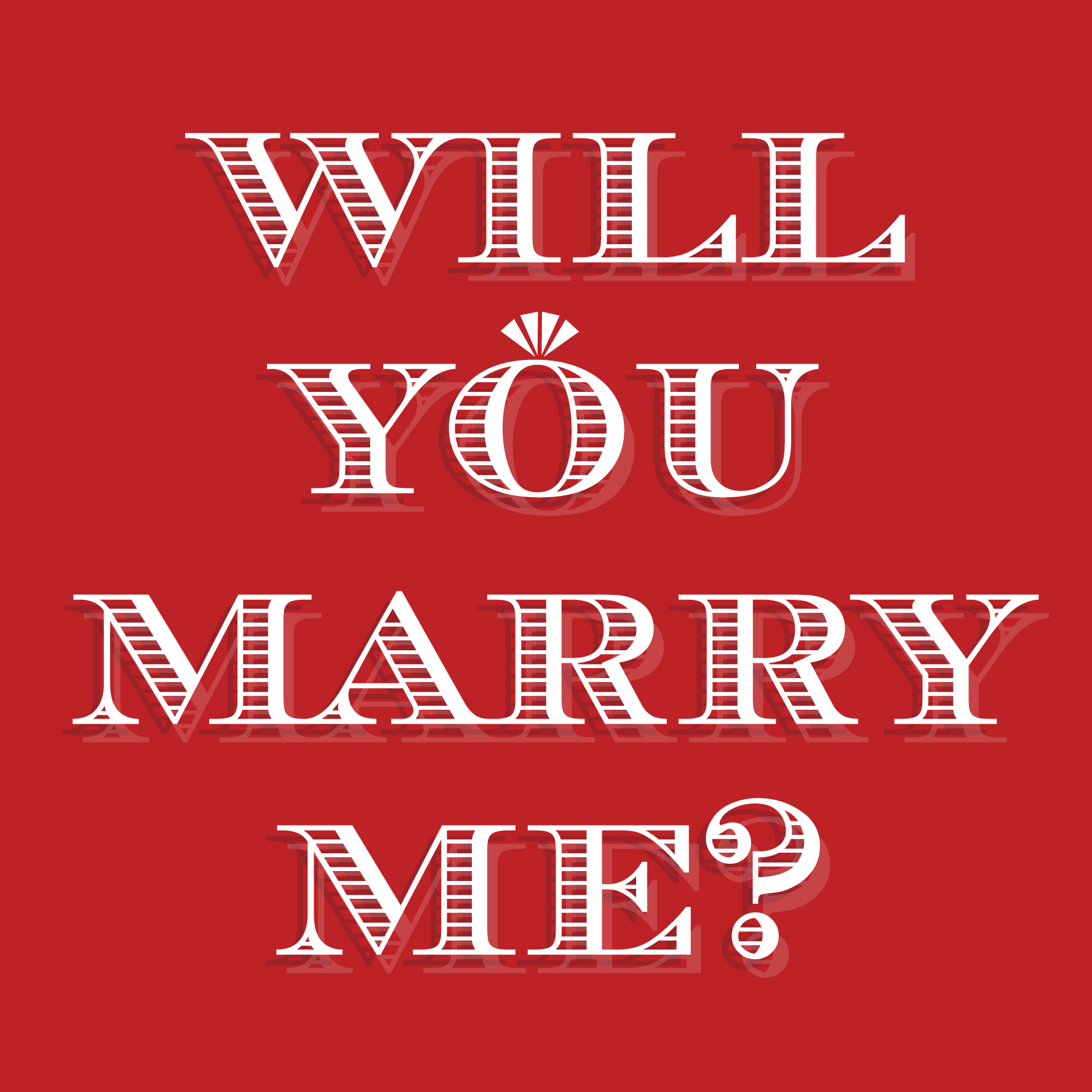 Will you marry me cards - The Proposers