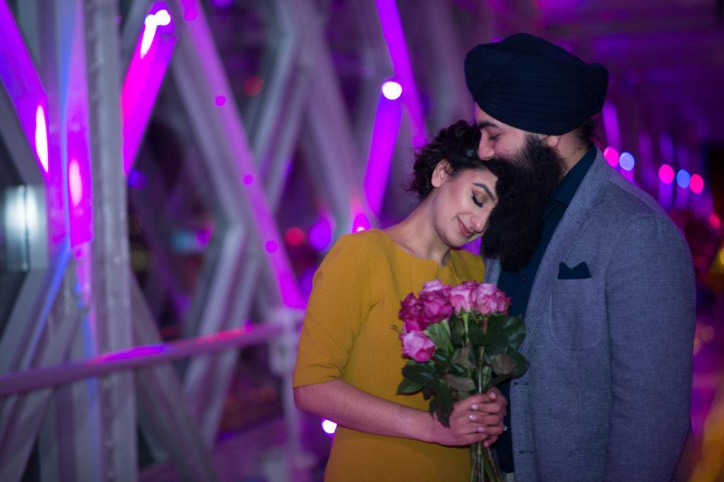 Balloon Marriage Proposal in Towe Bridge