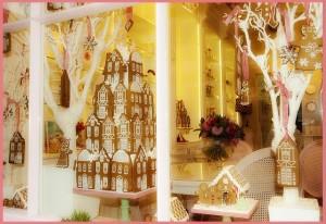 Cake shop window display