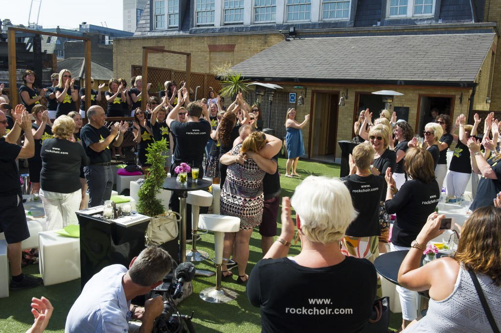 A Rooftop Singing Flash Mob Proposal