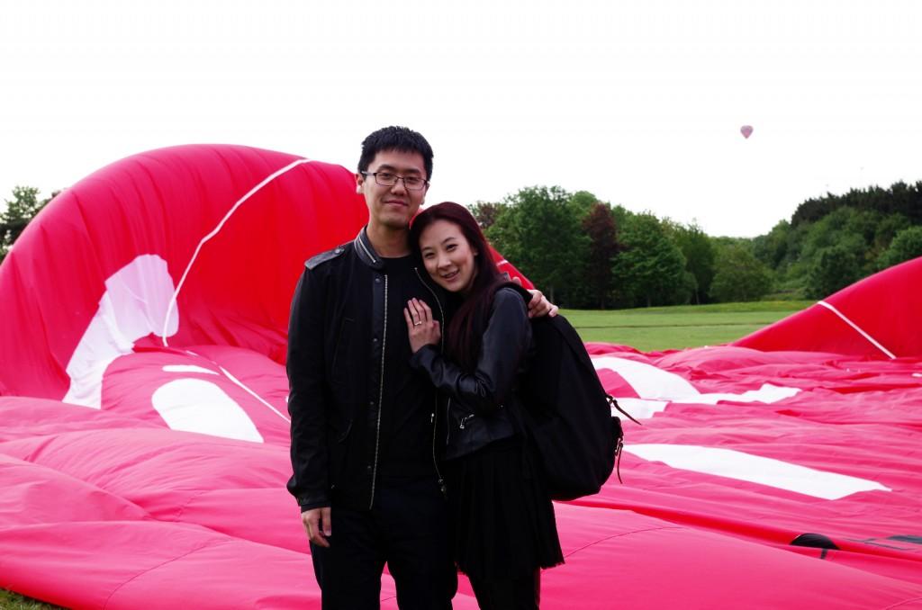 A hot air balloon proposal