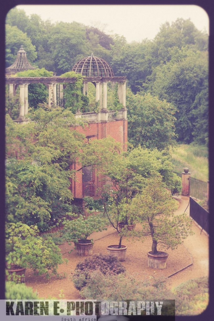 A Secret Garden Proposal in the Rain
