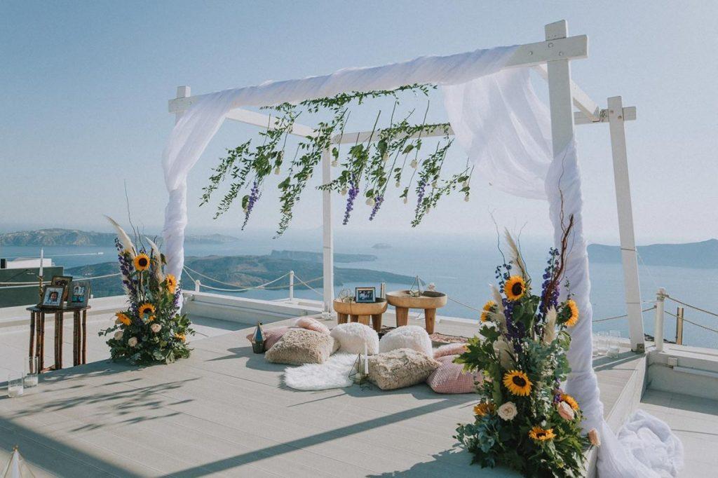 Proposing in paradise - Santorini