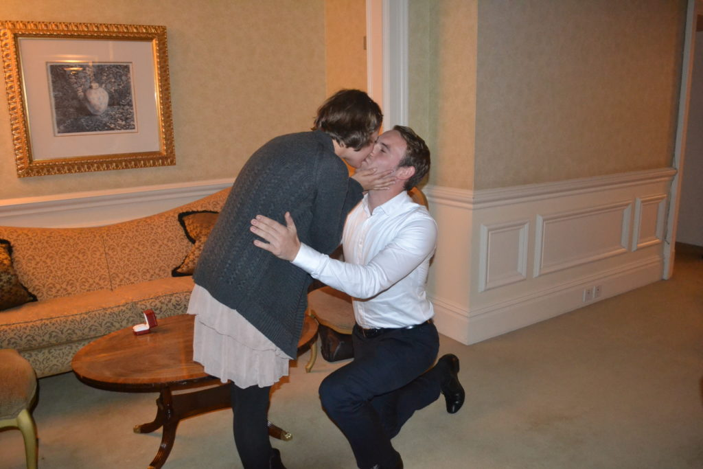 Marriage Proposal in The Landmark Hotel