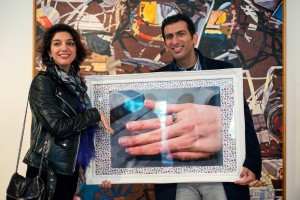 Art Auction Flashmob marriage proposal at the Saachi Gallery.