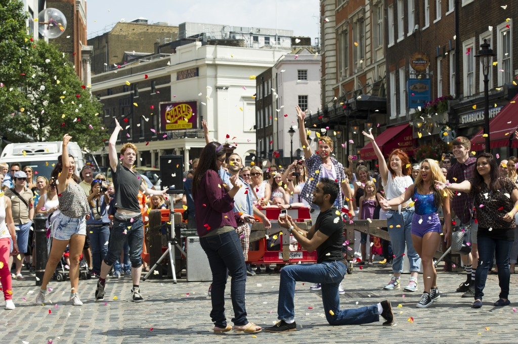Their spectacular flashmob proposal
