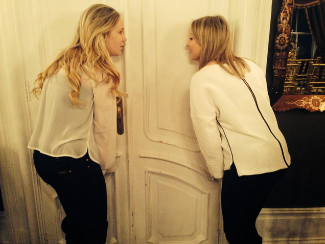 Proposal planners Daniella & Daisy listening at the door for those 4 words!!!