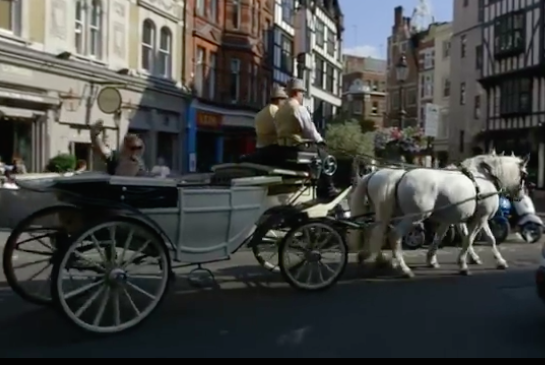 Darren and Leann in their horse and carriage.