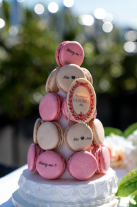 Personalised macarons from Laudree | Eiffel Tower Proposal