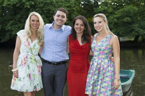 The Proposers with the happy couple