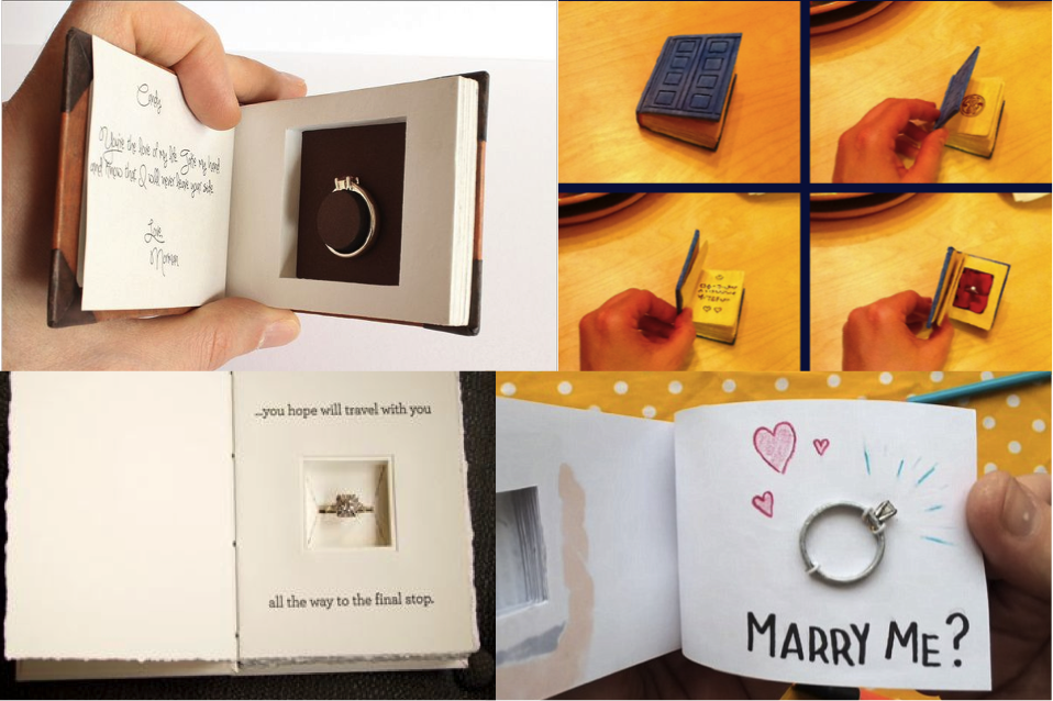 Forget tradition, it's all about the unique ring boxes!
