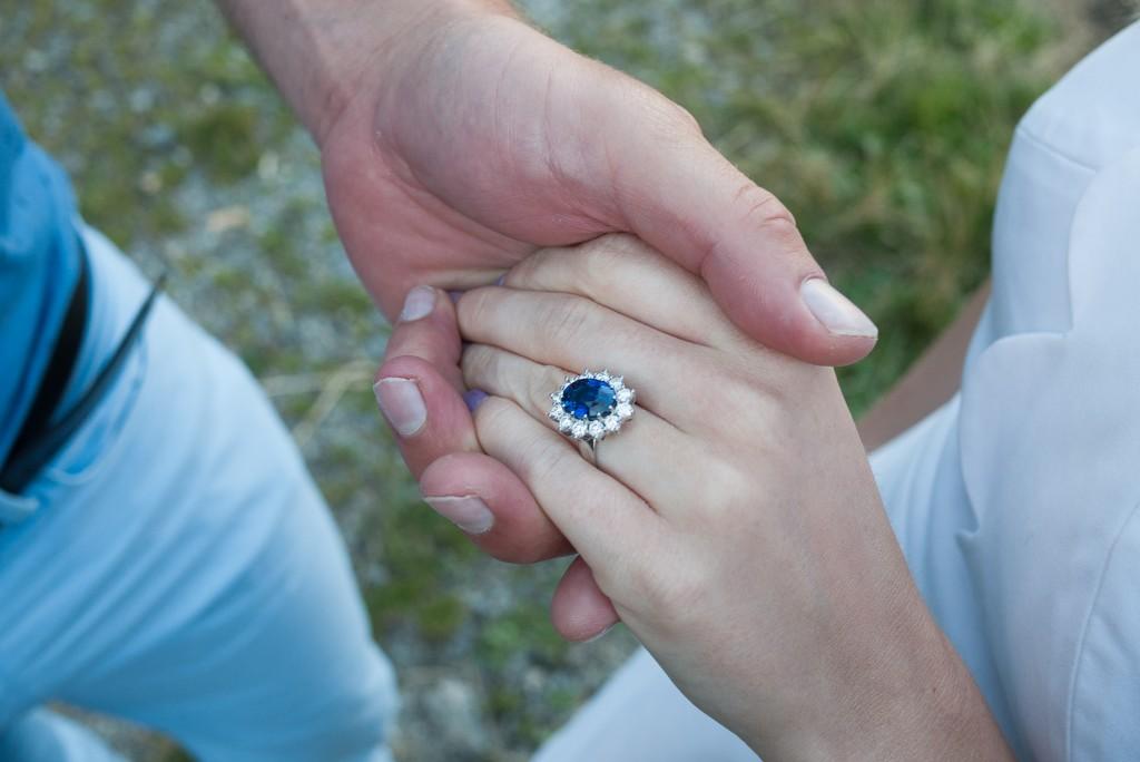 A proposal in Lac de Roselend, Beaufortain, Savoie, FRANCE