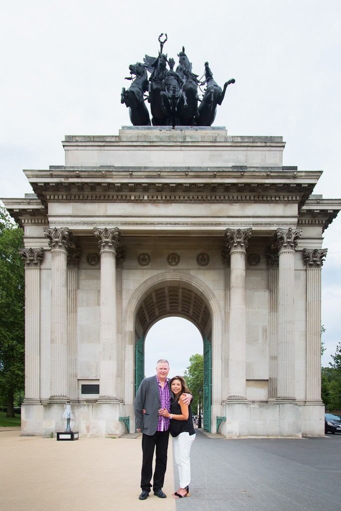 Wonderful marriage proposal inside Wellington Arch- The Proposers