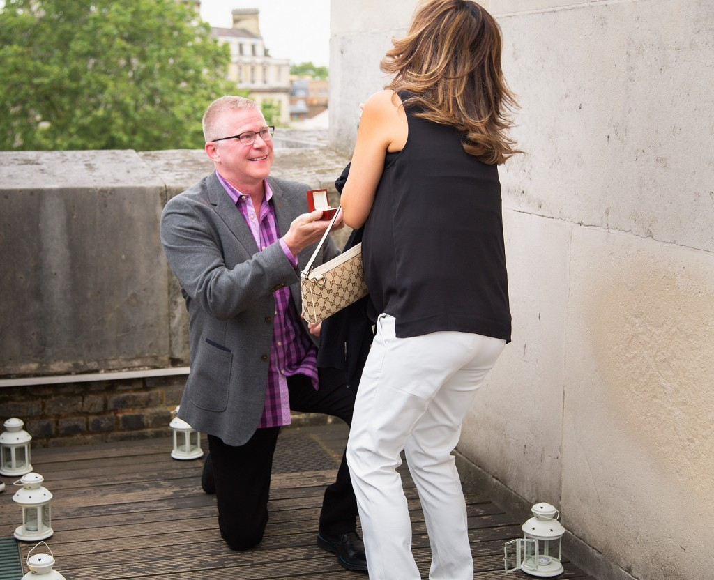 Marriage Proposal in Wellington Arch planned by The Proposers