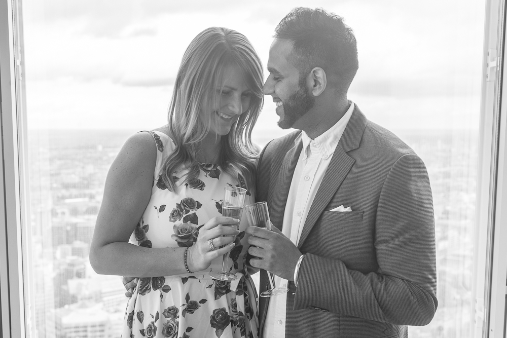 Proposing at The View From The Shard