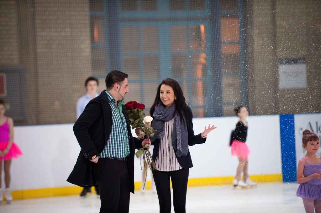Christmas ice skating marriage proposal at Alexandra Palace, London planned by The Proposers