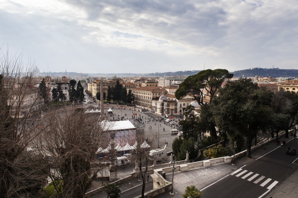 The incredible view over Rome from the proposal