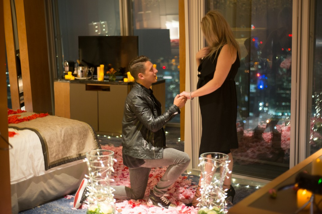 Proposing at The Shard
