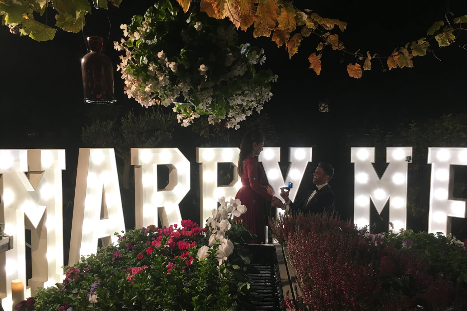 Proposing At Home - Garden Marry Me Sign