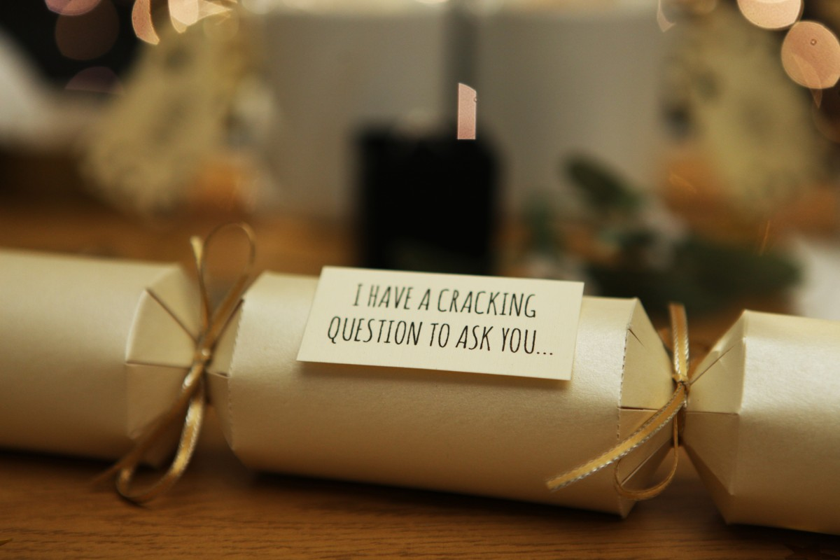 Christmas Cracker - The Most Romantic Christmas Proposal Ideas