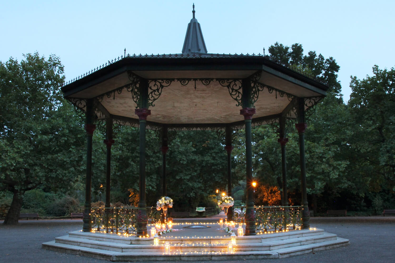 Battersea Bandstand | The Best Outdoor Winter Proposal Ideas In London