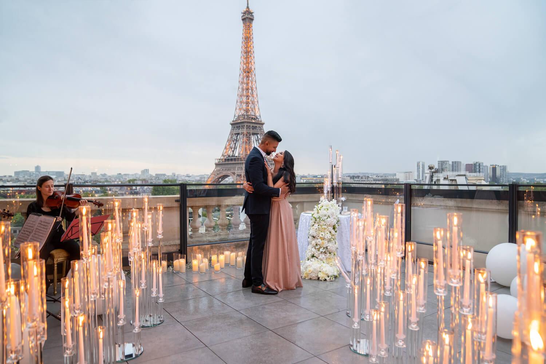Paris Terrace Proposal With A View - The Shangri-La Hotel