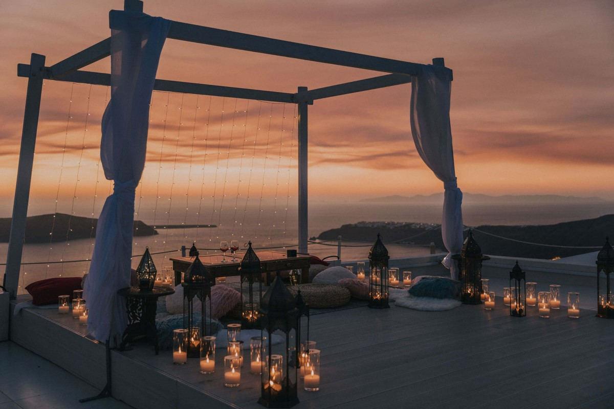 Santorini Proposal | Propose in Santorini
