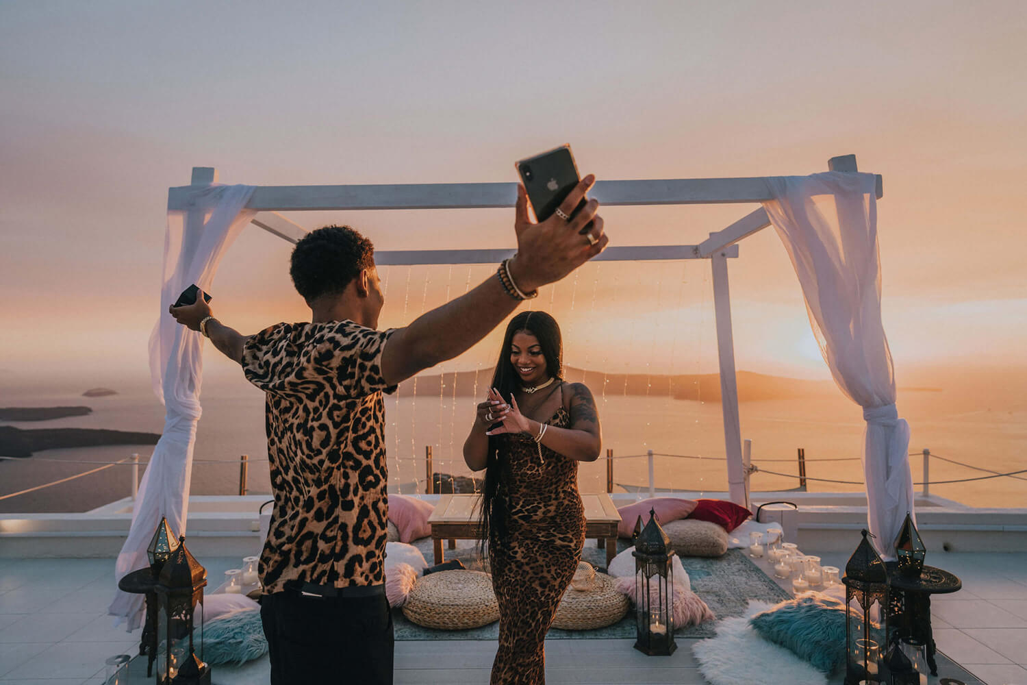 Propose in Santorini