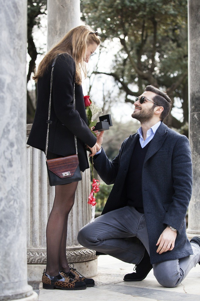 Does it get more romantic than proposing in ROME on VALENTINE'S DAY!!