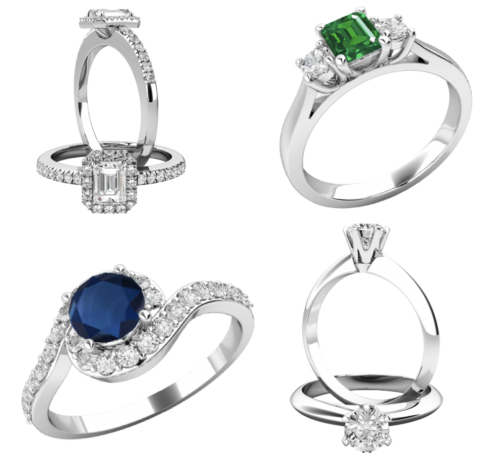 Diamond and Gemstone engagement rings from Purely Diamonds