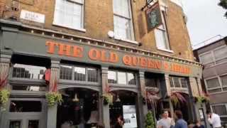 The exterior of a pub called 'The Old Queen's head'