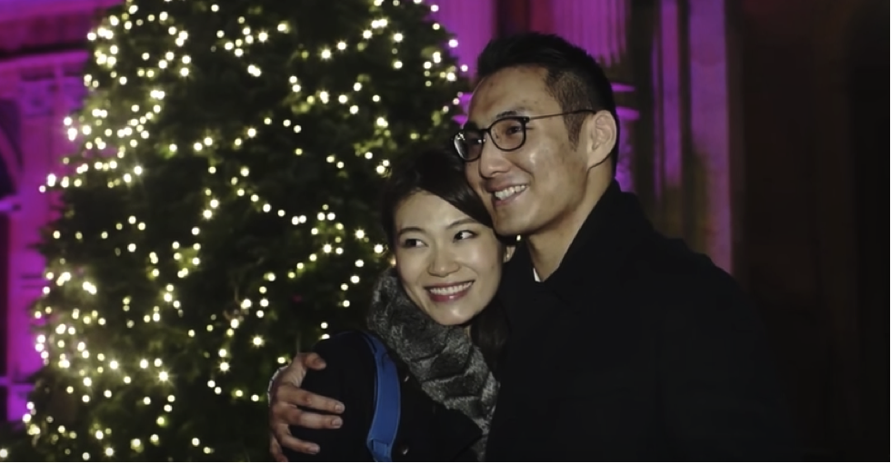 laser light show marriage proposal at Waddesdon Manor