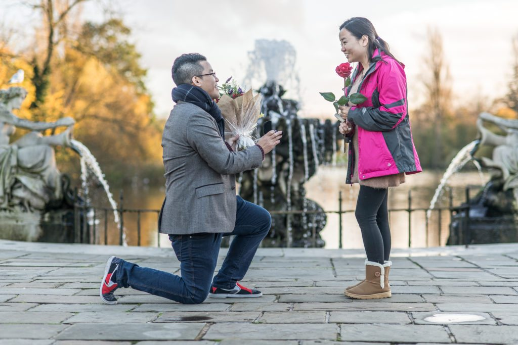 Marriage proposal in The Italian Gardens planned by The Proposers